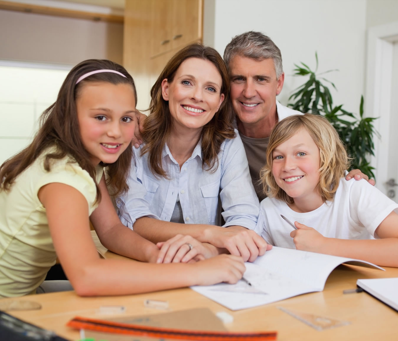 family who are home schooling in the UK